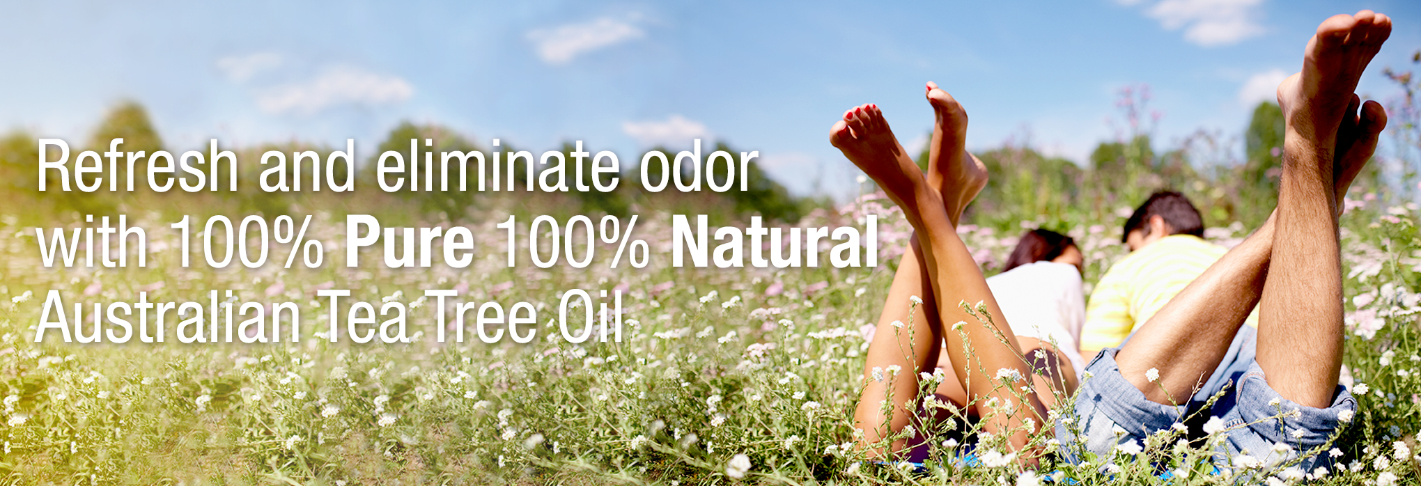 Refresh and eliminate odor with 100% pure 100% natural Australian Tea Tree Oil